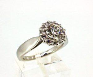 Žiedas Nr.100 (iš platinos, arba balto aukso, su briliantais)