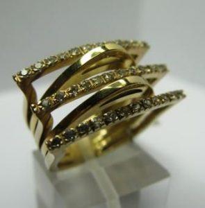 Žiedas Nr.11 (iš geltono, balto arba raudono aukso, puoštas akmenimis)