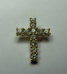 Pakabukas Nr.11 (kryželis iš aukso, inkrustuotas deimantais arba cirkonais)