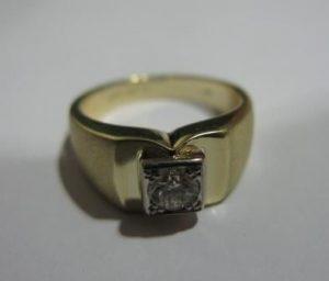 Žiedas Nr.12 (iš geltono, raudono arba balto aukso, su briliantu)