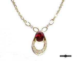 Kolje Nr.14 (iš geltono aukso, puošta rubinais ir briliantais)