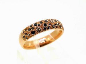 Žiedas Nr.150 (iš rožinio arba kitos spalvos aukso, su briliantais)