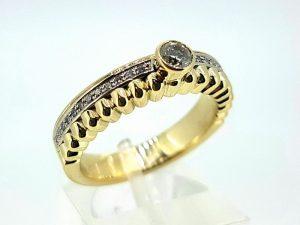 Žiedas Nr.155 (iš aukso, su briliantais)
