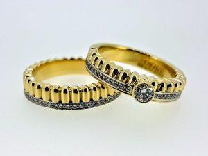 Žiedas Nr.156 (dviejų dalių, iš aukso, su briliantais)