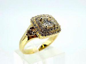 Žiedas Nr.157 (iš geltono, raudono arba balto aukso, su briliantais)