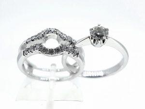 Žiedas Nr.159 (dviejų dalių, iš aukso, su briliantais)