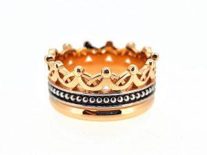 Žiedas Nr.173 ( Karūna iš dviejų spalvų aukso)