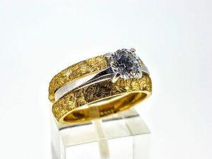 Žiedų komplektas Nr.177 ( iš geltono ir balto aukso)