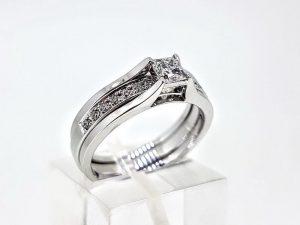 Žiedas Nr.189 (2 dalių, iš aukso su briliantais)