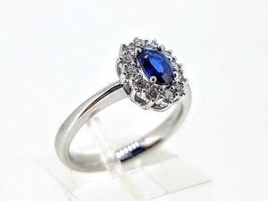 Žiedas Nr.192 (iš aukso ,puoštas safyru ir briliantais)