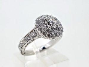 Žiedas Nr.193 (iš balto arba kitos spalvos aukso, su briliantais)