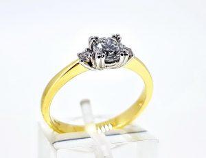 Žiedas Nr.207 (su briliantu, iš aukso)