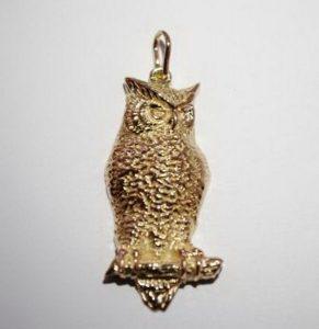 Pakabukas Nr.20 (pelėda, iš geltono, raudono arba balto aukso)