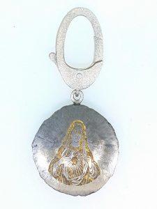 Pakabukas Nr.24 (iš meteorito ir sidabro)