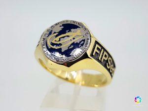 Žiedas žvejui-čempionui iš aukso