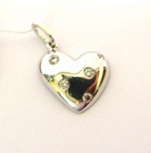 Pakabukas Nr.24 (širdelės formos, iš aukso, su briliantais)