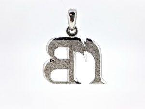 Pakabukas Nr.28 (su monograma, iš aukso arba sidabro)