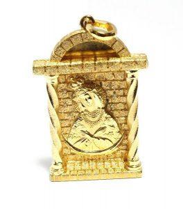 Pakabukas Nr.29 (su Šv.Marija, iš geltono aukso, su briliantais)