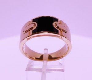 Žiedas Nr.31 (iš raudono aukso, inkrustuotas emale)