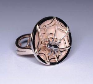 Žiedas Nr.37 (iš raudono ir balto aukso, su voru)