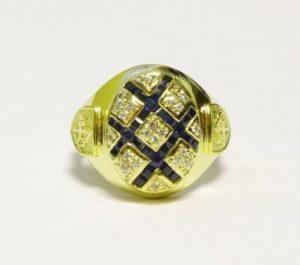 Žiedas Nr.40 (iš geltono, raudono arba balto aukso, su brangakmeniais)
