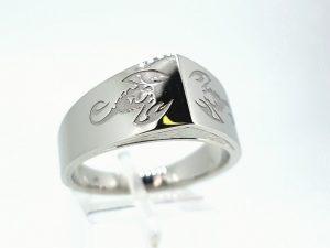 Vyriškas žiedas Nr.51 (iš balto, geltono arba raudono aukso)