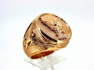 Vyriškas žiedas Nr.54 (iš raudono, geltono arba balto aukso)