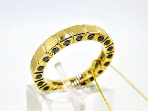 Vyriškas žiedas Nr.55 (su juodais briliantais, iš aukso)