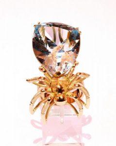 Žiedas Nr.61 (iš geltono, raudono arba balto aukso, puoštas akvamarinu)