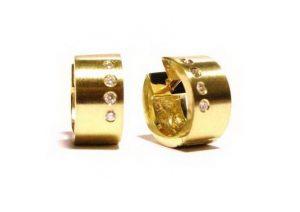 Auskarai Nr.65 (iš geltono, balto arba raudono aukso, su briliantais)
