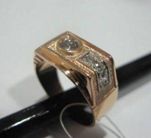 Žiedas Nr.7 (iš raudono, geltono arba balto aukso, puoštas briliantais)