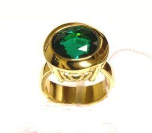 Žiedas Nr.71 (iš geltono aukso, su Sworovskio kristalu)