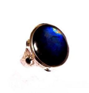 Žiedas Nr.73 (su žvaigždiniu safyru, iš raudono ir balto aukso)