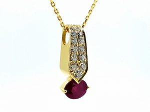 Pakabukas Nr.74 (iš aukso, puoštas rubinu ir briliantais)