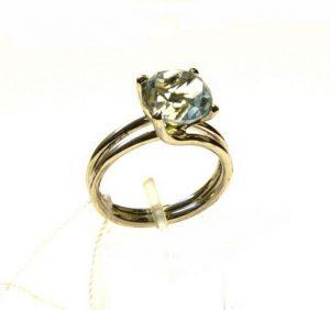Žiedas Nr.79 (iš balto, geltono arba raudono aukso, su akvamarinu)