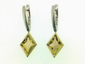 Auskarai Nr.87 (iš dviejų spalvų aukso)