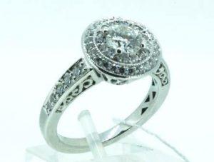 Žiedas Nr.88 (iš platinos arba balto aukso, su briliantais)