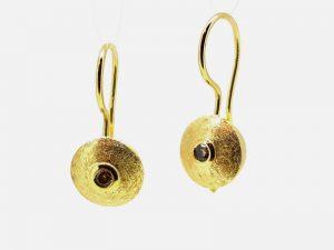 Auskarai Nr.97 (iš aukso, puošti rusvais briliantais)