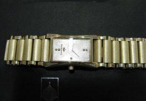 Laikrodis Nr.3 (rankų darbo laikrodis iš geltono ir balto aukso, puoštas briliantais)