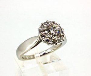 Sužadėtuvių žiedas Nr.100 (iš balto, raudono arba geltono aukso, su briliantais)