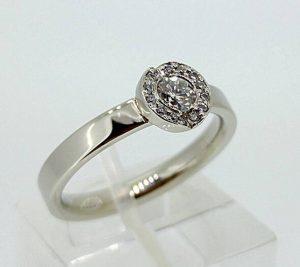 Sužadėtuvių žiedas Nr.103 (iš balto, geltono arba raudono aukso, su briliantais)