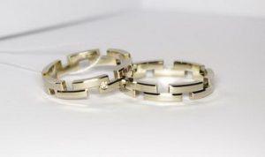 Vestuviniai žiedai Nr.104 (iš platinos arba balto aukso)