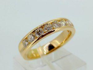 Sužadėtuvių žiedas Nr.106 (iš geltono arba kitos spalvos aukso, su briliantais)