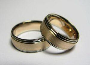 Vestuviniai žiedai Nr.10 (iš raudono ir balto aukso)