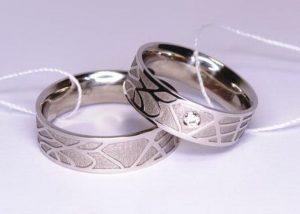 Vestuviniai žiedai Nr.111 (iš balto, geltono arba raudono aukso)