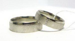 Vestuviniai žiedai Nr.118 (iš platinos arba balto aukso)