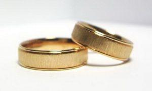 Vestuviniai žiedai Nr.119 (iš raudono arba geltono aukso, matiniu paviršiumi)