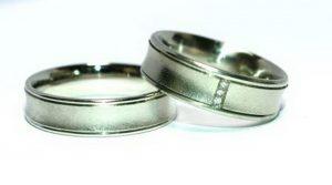 Vestuviniai žiedai Nr.132 (iš platinos arba balto aukso)