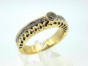 Sužadėtuvių žiedas Nr.137 (iš aukso, su briliantais)