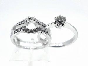 Sužadėtuvių žiedas Nr.139 ( 2 dalių, iš aukso, su briliantais)